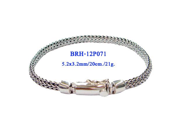 BRACELETS PLAIN SILVER 3.5X5 MM 21g