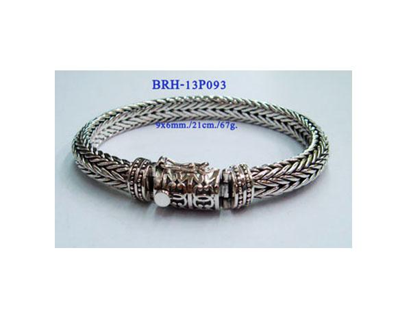 BRACELETS PLAIN SILVER 9X6 MM 67g